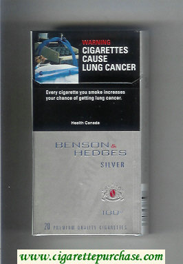 Benson & Hedges Silver Lights 100s cigarettes
