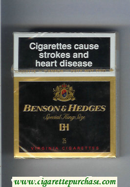 Benson and Hedges Special King Size Virginia BH cigarettes