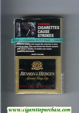 Benson and Hedges Special King Size Virginia cigarettes