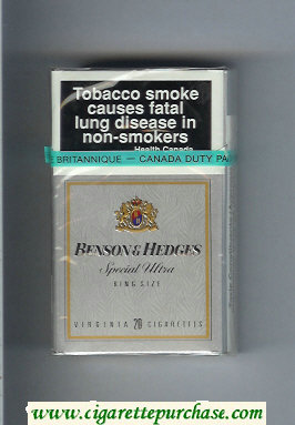 Benson and Hedges Special Ultra cigarettes