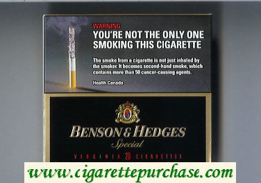 Benson and Hedges Special Virginia cigarettes