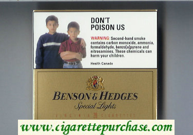 Benson and Hedges cigarettes Special Lights Virginia