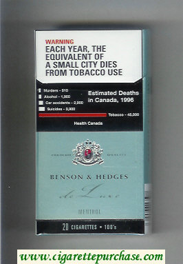 Benson and Hedges Ultra Lights cigarettes de Luxe Menthol