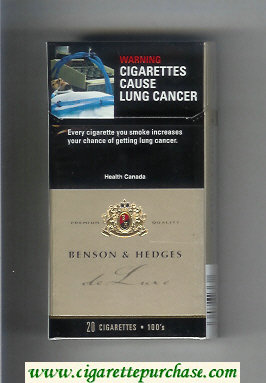 Benson and Hedges de Luxe Ultra Lights cigarettes