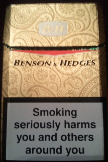Benson and Hedges Gold cigarettes England Limited Edition 2012