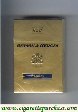 Benson and Hedges Lights cigarettes