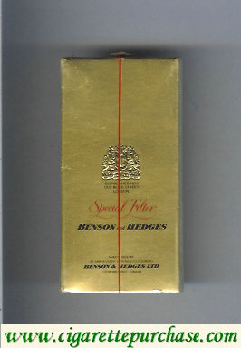 Benson and Hedges Special Filter cigarettes