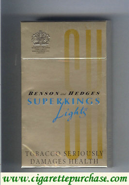 Benson and Hedges Superkings Lights cigarettes