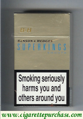 Benson and Hedges Superkings Smooth cigarettes