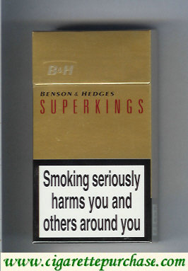 Benson and Hedges Superkings cigaretrtes