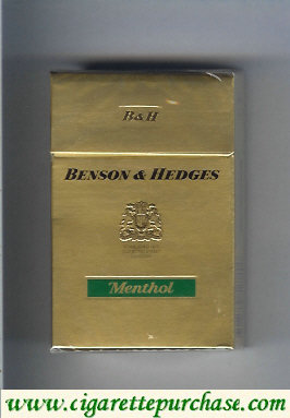 Benson and Hedges cigarettes Menthol