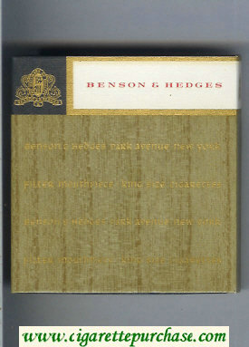 Benson Hedges Filter Mouthpiece cigarettes park avenue