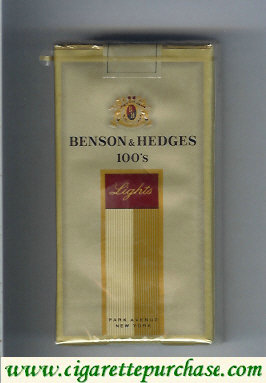 Benson and Hedges 100s Lights cigarettes soft box