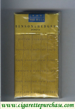 Benson and Hedges 100s cigarettes Park Avenue soft box