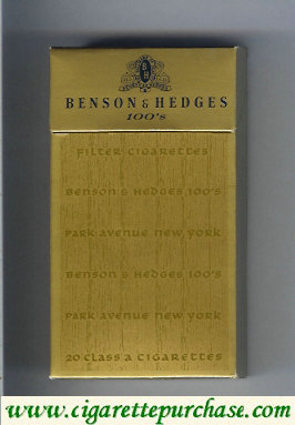 Benson and Hedges 100s cigarettes Park Avenue