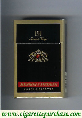 Benson and Hedges Special Kings cigarettes