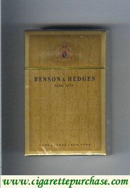 Benson and Hedges king size cigarettes Park Avenue Premium Quality