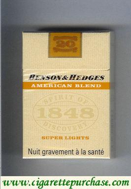 Discount Benson Hedges American Blend Super Lights cigarettes France