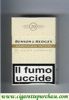 Discount Benson Hedges American White One cigarettes Italy England