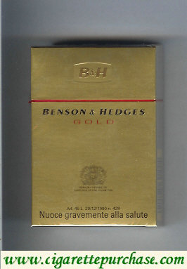 Discount Benson Hedges Gold cigarettes Italy