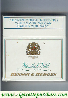 Discount Benson Hedges Menthol Mild cigarettes South Africa