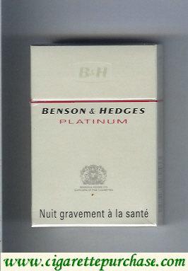Discount Benson Hedges Platinum cigarette France