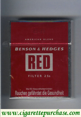Discount Benson Hedges Red Filter American Blend cigarettes England