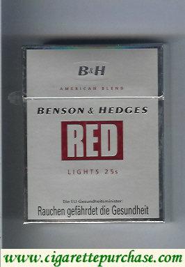 Discount Benson & Hedges Red Lights American Blend cigarettes austria