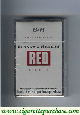 Benson Hedges Red Lights cigarettes American Blend Czechia