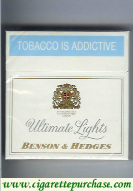 Discount Benson Hedges Ultimate Lights cigarettes 30 South Africa