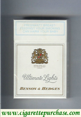 Discount Benson Hedges Ultimate Lights cigarettes South Africa