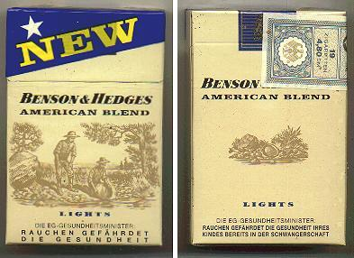 Discount Benson and Hedges American Blend Lights cigarettes Germany