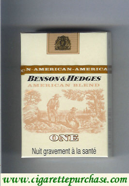 Discount Benson and Hedges American Blend One cigarette France