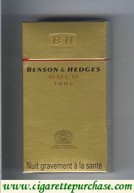 Discount Benson and Hedges Gold 100s cigarettes France and England