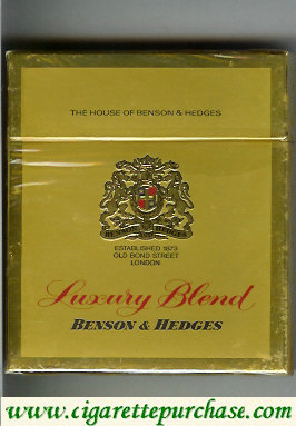Benson and Hedges Luxury Blend cigarette England