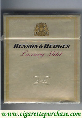 Discount Benson and Hedges Luxury Mild cigarette gold Switzerland