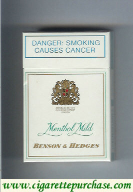 Benson and Hedges Menthol Mild cigarettes South Africa
