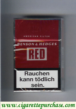 Benson and Hedges Red American Filter cigarette red and silve Austria and England
