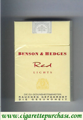 Benson and Hedges Red Lights cigarettes England Germany