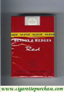 Benson and Hedges Red cigarette england