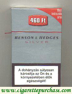 Discount Benson and Hedges Silver cigarette England and Hungary