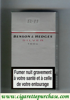 Discount Benson and Hedges Silver 100s cigarettes France and England
