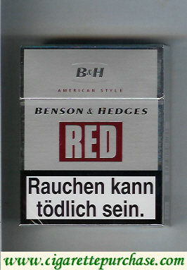 Discount Benson and Hedges cigarettes Red American Style