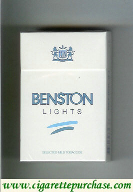 Benston Lights cigarette with two horizontal lines Croatia