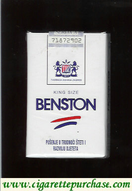 Benston cigarettes with two horizontal lines soft box Croatia