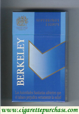Berkeley superngs lights cigarettes blue