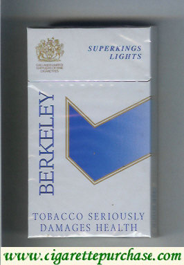 Berkeley superngs lights cigarettes grey