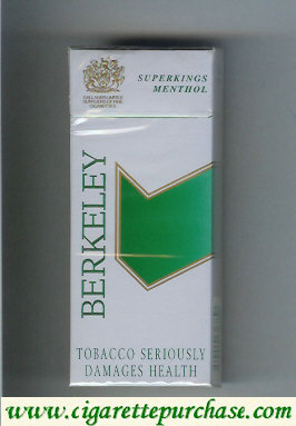Discount Berkeley superngs menthol cigarettes grey