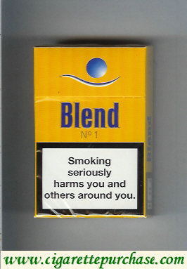 Blend No1 cigarettes Sweden