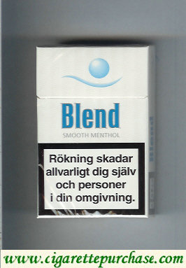 Blend Smooth Menthol cigarettes Sweden
